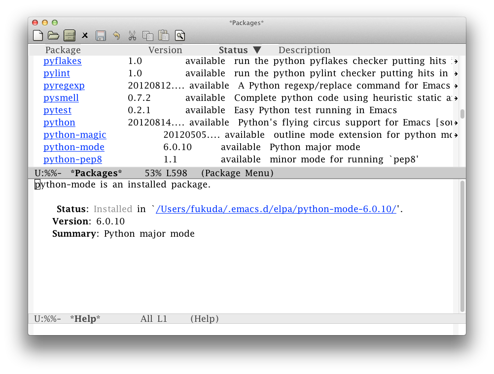 Packages package on emacs-24.2