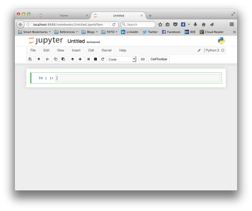 Jupyter's First Prompt